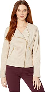 Suede Jacket with Seams and Zippers