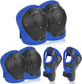Beschermset voor Kinderen 6 Pcs,Kniebeschermers,Elleboogbeschermers,Beschermingsset voor Kinderen,Beschermingsset voor Tie...