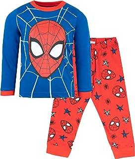 Juego de pijama oficial de Marvel Spiderman de 3 a 10 años disponible   pijama de manga larga   100% algodón de superhéroe disfraz   Producto oficial   regalo para niños