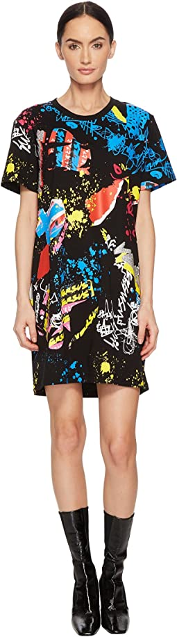 Versus Versace - T-Shirt Donna Jersey Stampato Dress