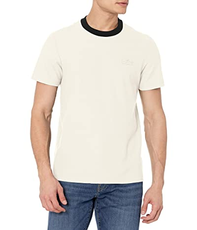 Lacoste Short Sleeve Contrast Collar With Tonal Croc T-shirt