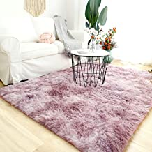 Modern Shaggy Rugs Fluffy Soft Touch Dazzle Sparkle Area Rug Carpet Large for Living Room Bedroom Floor Mat (Cute Pink,140...