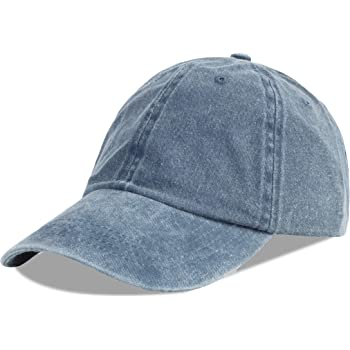 LANGZHEN Unisex Baseball Cap 100% Cotton Fits Men Women Washed Denim Adjustable Dad Hat