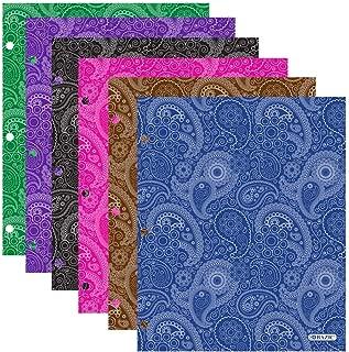 Bazic Products Bright Colored Glossy Finish Laminated Paisley Design 2 Pocket Portfolios - Set of 4 Folders