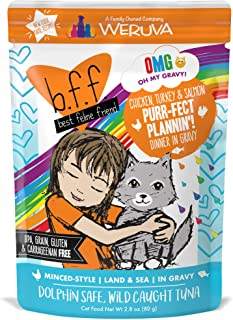 Weruva B.F.F. OMG – Best Feline Friend Oh My Gravy! Grain-Free Natural Wet Cat Food..