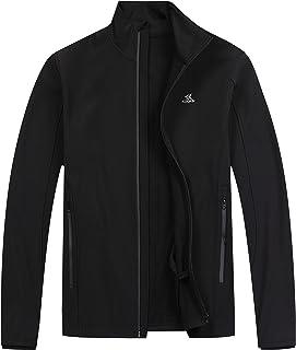 KOOFIN GEAR Men's Windproof Softshell Zip-Front Fleece-Lined Jacket Winter Outerwear Waterproof
