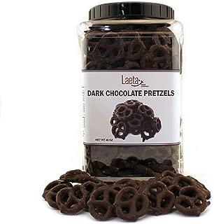 Dark Chocolate Covered Pretzels, Salted Pretzels in Mildly Sweet Smooth Dark Chocolate, 40 Ounces