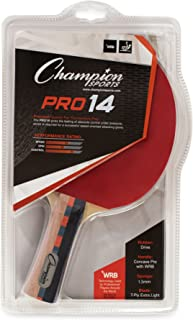 Champion Sports Pro Series Rubber Face Table Tennis Paddle - Multiple Speed Ratings