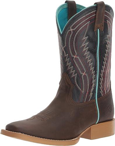 Ariat - Chaussures Chaussures Unisexe-Enfant Chute Boss Western Western, 30 M EU, Distressed marron Old bleu  acheter pas cher