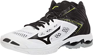 Mizuno Men's Wave Lightning Z5 Mid Volleyball Shoe, whiteblack