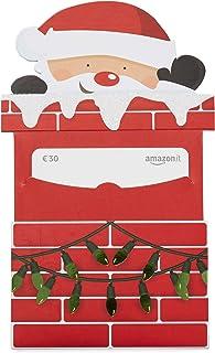 Buono Regalo Amazon.it - Busta babbo Natale caminetto