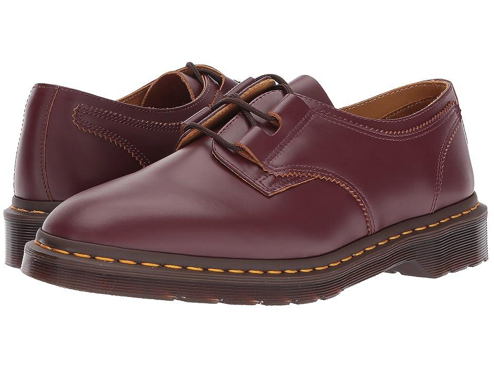 Dr. Martens 1461 Ghillie Shoe (Oxblood Vintage Smooth) Shoes