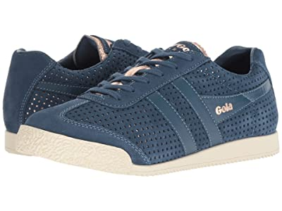 Gola Harrier Glimmer Suede (Baltic/Rose Gold/Off-White) Women