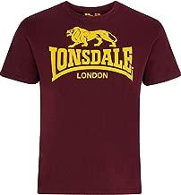 Lonsdale Men´s Regular-Fit Classic Lion Logo T-Shirt Oxblood