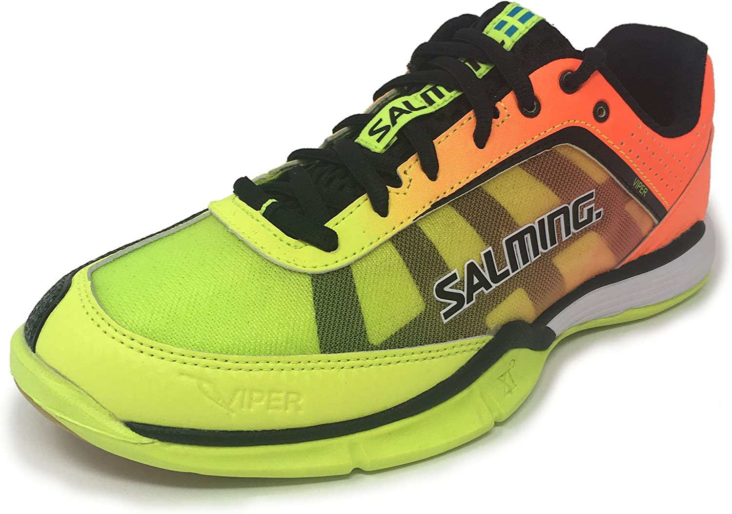 Salming Viper 4 Junior Yellow orange Indoor Court shoes
