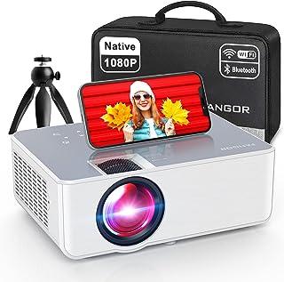 "1080P HD Projector, WiFi Projector Bluetooth Projector, FANGOR 6500 Lumen 230"" Portable Movie Projector, Home Theater Vide..."