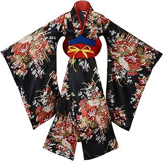 Women's Gorgeous Japanese Traditional Satin Kimono Robe Costumes