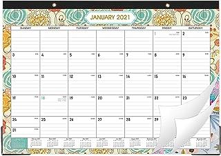 """2020-2021 Desk Calendar - Desk Calendar Desk/Wall Monthly Calendar Pad, 17"""" x 12"""" Desk Pad Calendar, 18 Monthly Colorful D..."""