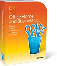 Microsoft Office 2010 Home and Business, 1 User (PC DVD) [importado de Inglaterra]