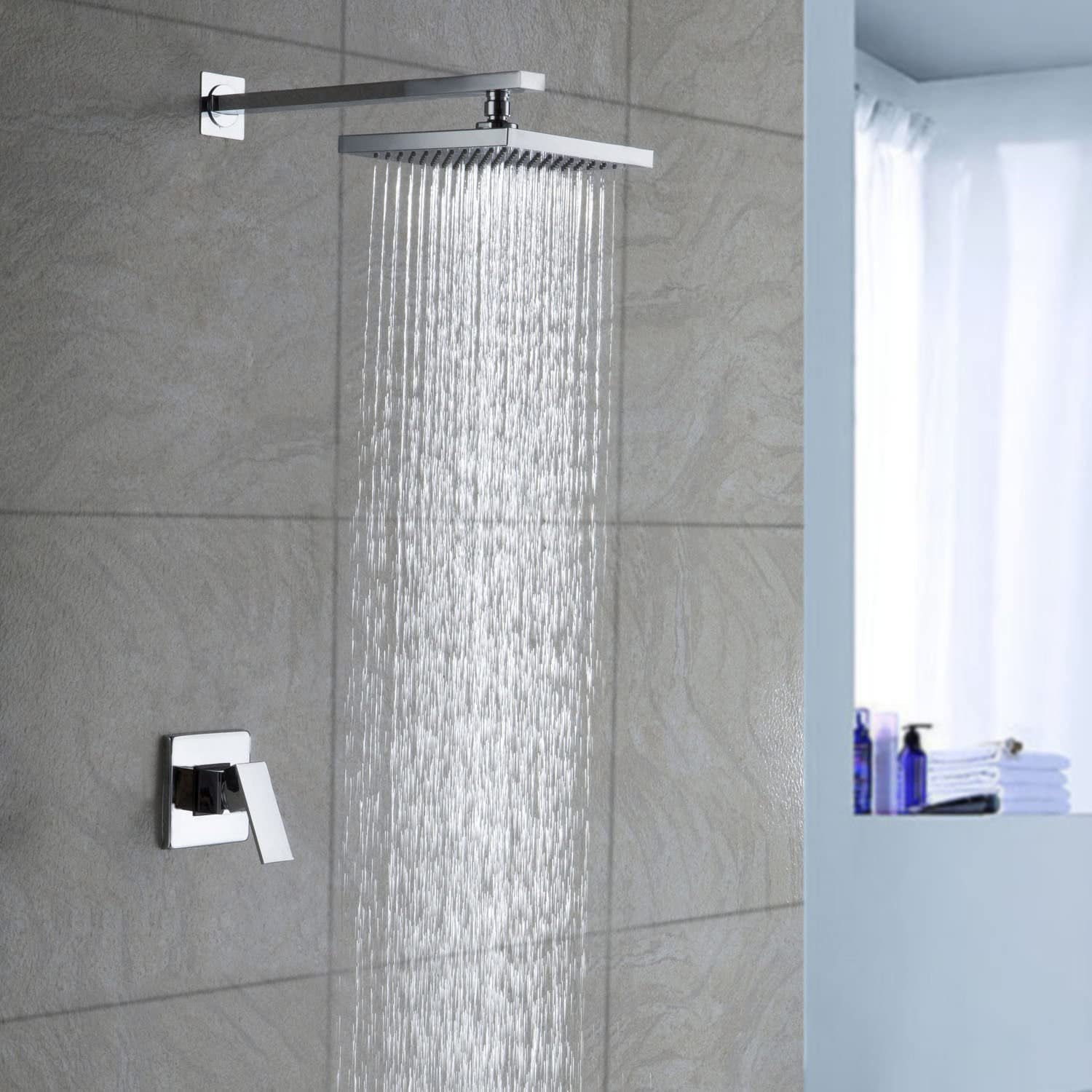 Concealed Chrome Finish Shower Faucet