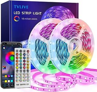 TVLIVE Ruban LED 20M Bande LED RGB avec Télécommande à 40 Touches, Synchroniser avec Rythme de Musique, Contrôlé par APP d...