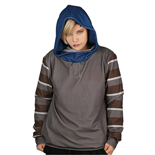 Xcostume Creepypasta Hoodie Unisex Deluxe Polyester Ticci Toby Pullover Jacket Cosplay