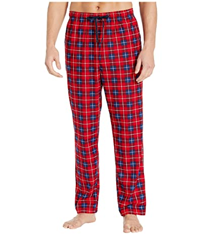 Nautica Plaid Cozy Fleece Pajama Pants (Red) Men