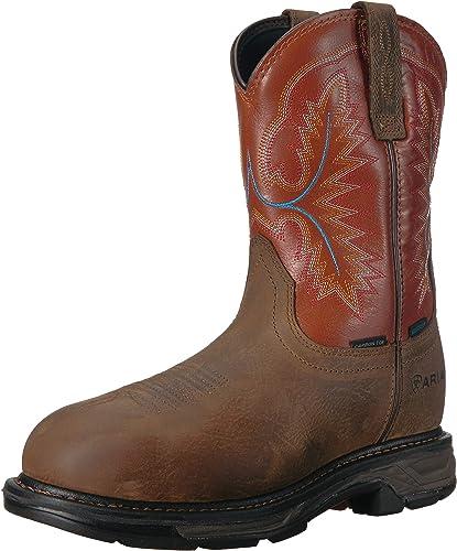 Ariat - Chaussures de Travail Western Workhog XT H2O Carbon Toe Hommes, 45 W EU, Rye marron Brick