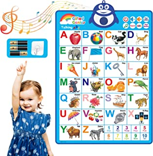 Sponsored Ad - Gifted Genius Electronic Interactive Alphabet Wall Chart, Talking ABC & 123s & Music Poster, Best Education...