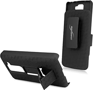BoxWave Dual+ LG G2 mini Holster Case - 3-in-1 Holster Combo Case Includes Protective Case and Belt Clip Holster with Integrated Viewing Stand (Jet Black)