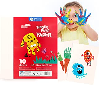 """Jar Melo Giant Finger Paint Paper Pad;10.3"""" X 14.6"""", Drawing Paper for Kids,Non-Absorbent ,10 Sheets Painting Paper,Art Pa..."""