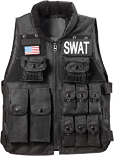 Tougou Tactical Vest Outdoor CS Field Breathable Combat Training Vest Adjustable for Adults/Kids Suitable for Airsoft/Paintball/Hunting/Survival War Game and Military Fans