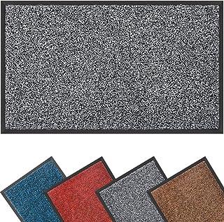 Mibao Dirt Trapper Door Mat for Indoor&outdoor, 40x60cm, Grey Black Doormat, Washable Barrier Door Mat, Heavy Duty Non-Sli...