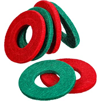 Pangda 6 Pieces Battery Terminal Anti Corrosion Washers Fiber Battery Terminal Protector (3 Red and 3 Green)