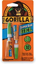 Gorilla Super Glue Gel, Two 3 Gram Tubes, Clear, (Pack of 1)