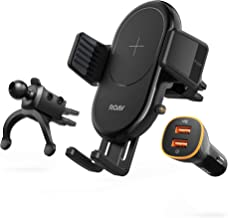 Roav W1 Fast Wireless Car Charger with Air Vent Phone Holder, Qi-Certified, 7.5W for iPhone Xs Max XR XS X 8/8 Plus, 10W for Galaxy S10 S9 S8, Note 10 (Quick Charge Car Charger Included)
