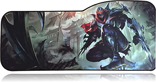 """League of Legends Extended Size Custom Gaming Mouse Pad - Anti Slip Rubber - Stitched Edges - Large Desk Mat - 28.5"""" ..."""