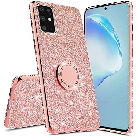 Samsung A71 5G Glitter Case Bling Rhinestone Girly Luxury Sparkle Rainbow Gradual Protective Case Cover with Crystal for Women Girls Diamond Soft TPU Bumper for Samsung A71 5G 6.7 inch