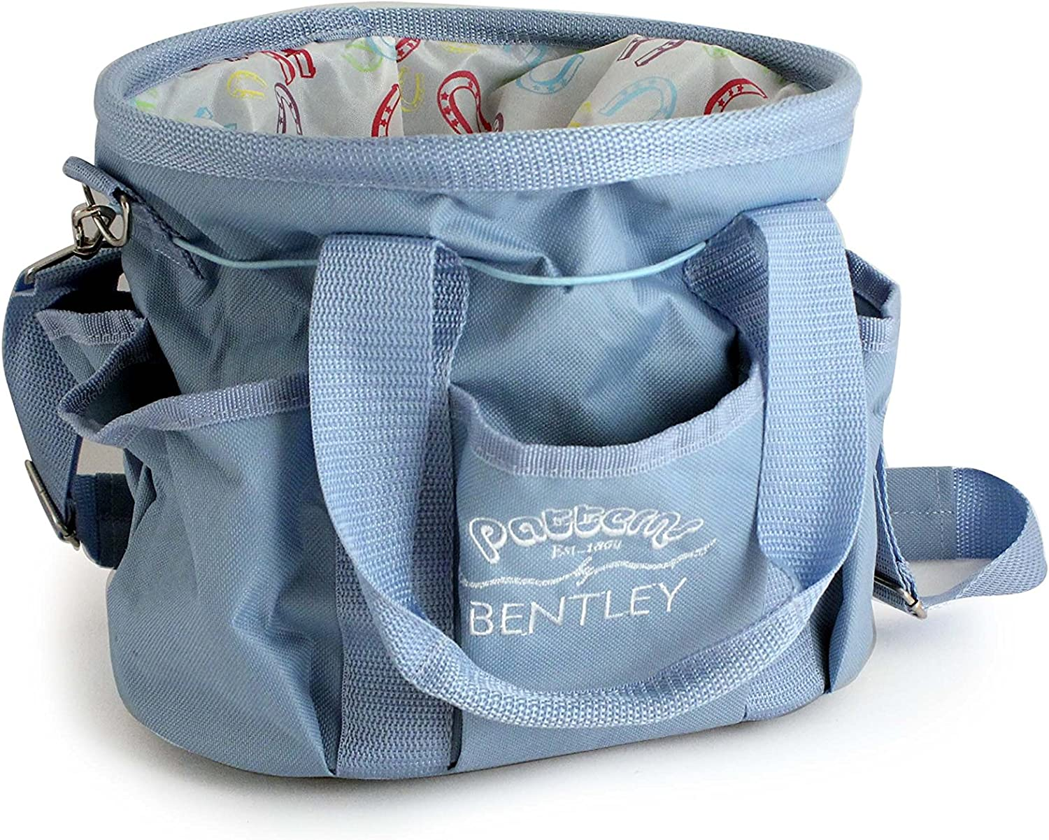 BENTLEY PATTERNS HORSE SHOE CARRY BAG blueE