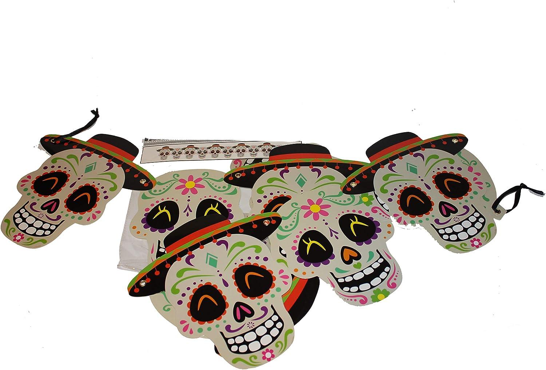 Day Of The Dead Garland Halloween Sugar Skull Banner Halloween Garland Halloween Party Halloween Day Of The Dead Theme Halloween Decorations
