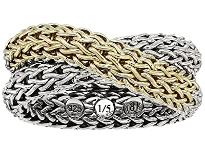 John Hardy Classic Chain Intersect Chain Ring (Gold/Silver) Ring