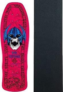 Powell-Peralta Skateboard Deck Welinder Nordic Skull Pink Re-Issue W/Grip