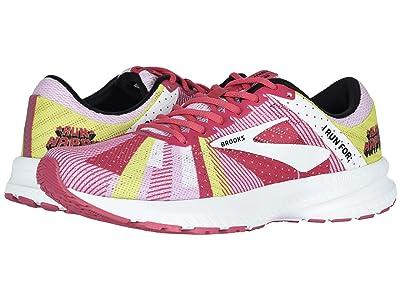 Brooks Launch 6 (Pink/White/Lemon) Women