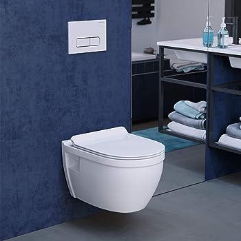 Swiss Madison One-Piece Wall Hung Flushing Toilet
