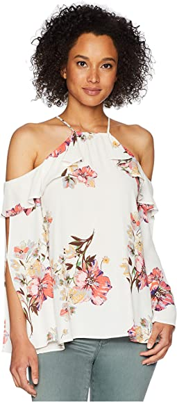 Open Sleeve Floral Top