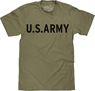 Tee Luv US Army T-Shirt - United States Military Green Logo Shirt