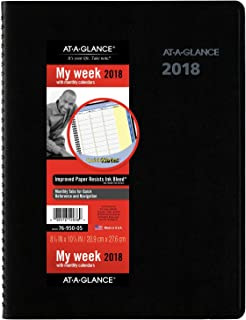 AT-A-GLANCE Weekly / Monthly Appointment Book / Planner, QuickNotes, January 2018 - December 2018, 8-1/4