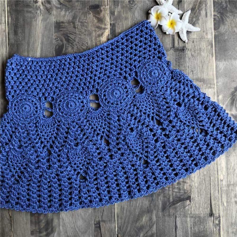 HEHEAB Falda Dividida Split Falda Crochet Verano Trajes De Baño ...