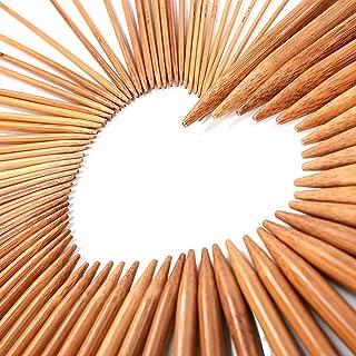 LIHAO 75 x Agujas de Punto de Bambú para Tejer (2.0mm a 10.0mm)