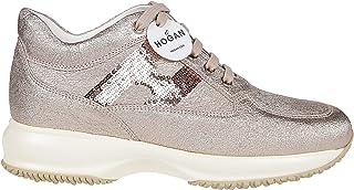 Luxury Fashion | Hogan Women HXW00N05640LF5M002 Pink Leather Sneakers | Autumn-winter 19